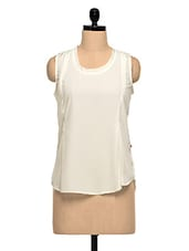 White Solid Polyester Top - Tops And Tunics