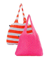 Color Block Striped And Star Printed Hand Bags - Be... For Bag