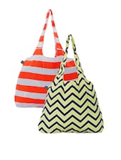 Striped  Color Block And Chevron Printed Handbags - Be... For Bag