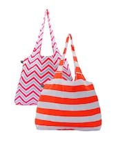 Color Block Striped And Chevron Printed Hand Bags - Be... For Bag