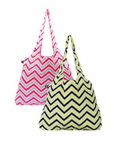 Multi Color Chevron Printed Handbags - Be... For Bag