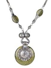 Green Beaded Pendant Neckpiece - Art Mannia