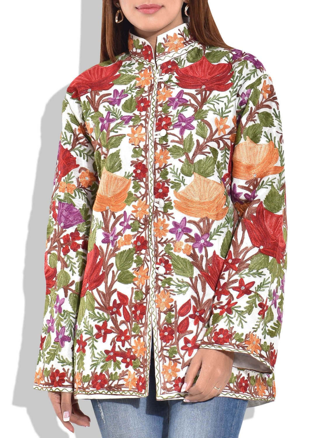 Vintage 1960's Asian Chinese Anhui Silk Embroidered Jacket ...