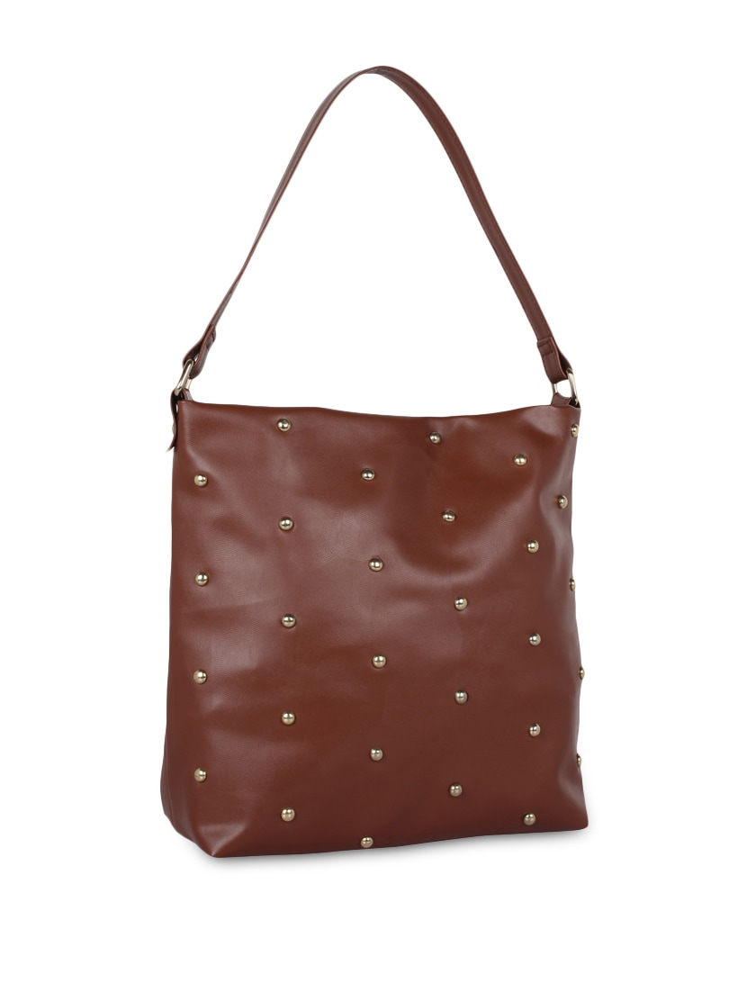 9ed89fd84b1 Buy Brown Studded Leatherette Bag by Berrypeckers - Online shopping for  Handbags in India   9900216