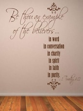 """""""Be Thou An Example..."""" Quoted Wall Sticker - My Wall"""