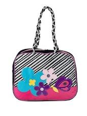Multicolor Cotton Color Block Floral Patch Work Hand Bag - THE JUTE SHOP