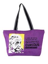 Purple Quoted Jute Bag - THE JUTE SHOP
