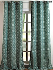 Blue Printed Polyester Door Curtain - Deco Essential