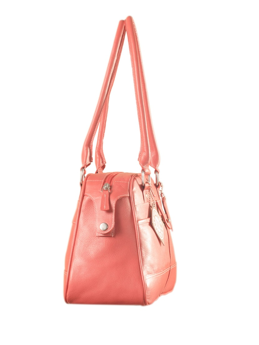 Buy Pink Leather Handbag by Ezeebags Maya Collection - Online shopping for  Handbags in India   9936920 f787fe1d91