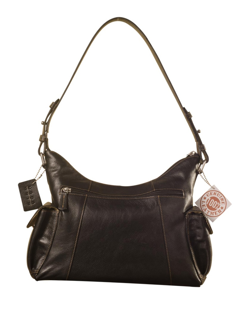 Buy Brown Leather Handbag by Ezeebags Maya Collection - Online shopping for  Handbags in India   9936937 d62623e0d2