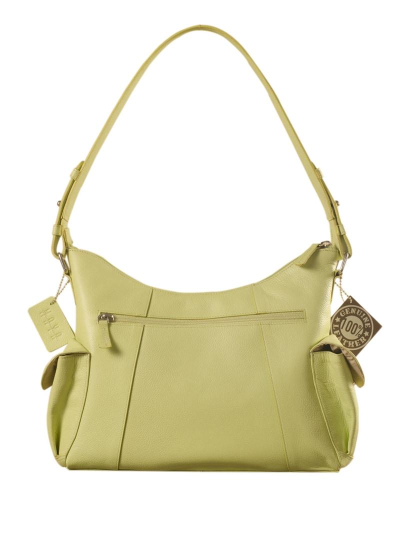 Buy Green Leather Handbag by Ezeebags Maya Collection - Online shopping for  Handbags in India   9936941 defb93e5b5