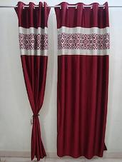 Maroon Milano Door Curtain - Wellmade