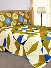 Multi Colored Geometric Color Block Cotton Double Bedsheets - Salona Bichona
