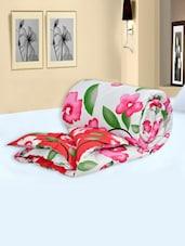 Multi Colored Floral Printed Cotton Double Comforters - Salona Bichona
