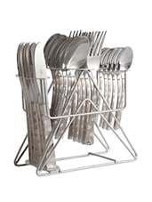 Lazer Engraved Stainless Steel Cutlery Set With Stand - Dinette