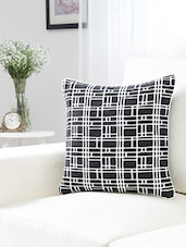 Dekor World Square Jacquard Cushion Cover (Pack Of 2 Pcs) - By