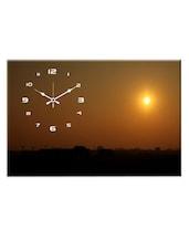 Brown Landscape Wall Clock - Design O Vista