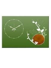 Green Analog Wall Clock - Design O Vista