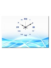 White And Blue Analog Wall Clock - Design O Vista