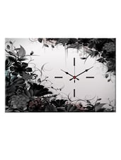 Grey Floral Wall Clock - Design O Vista