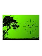 Green Tree Print Wall Clock - Design O Vista
