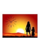 Sunset Silhouette Print Wall Clock - Design O Vista