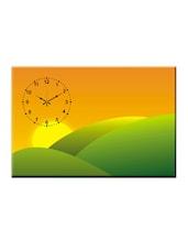 Abstract Sunset Print Wall Clock - Design O Vista