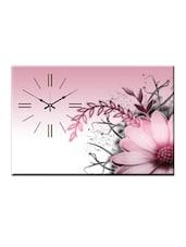 Abstract Floral Print Wall Clock - Design O Vista