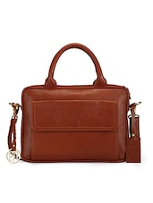 Brown Pure Leather Laptop Bag - By