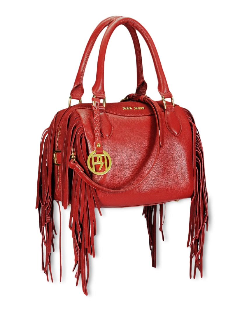 e627568e8a Buy Red Fringed Pure Leather Handbag for Women from Phive Rivers for ₹10999  at 0% off