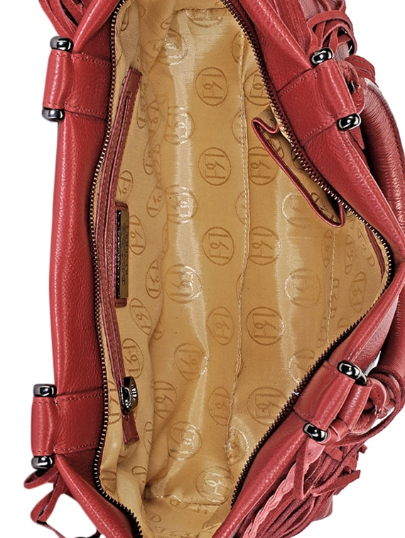 3c6e110720 Buy Red Fringed Pure Leather Handbag for Women from Phive Rivers for ₹9999  at 0% off