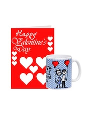 Multicolor Greetings Card With Ceramic Mug Gift Set - By