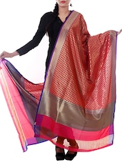 Rani Silk Zari Work Dupatta - By