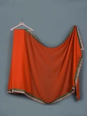 Rust Orange Chiffon Saree - Aarohii