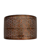 Iron Lamp Shade With Cutwork - The Yellow Door - 997772