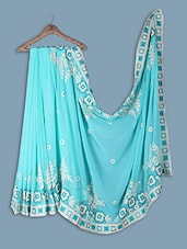 Net Saree With Embroidery Work On Saree - Ethnictrend