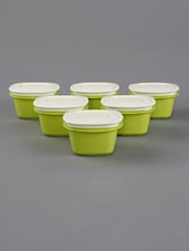 Green Storage Containers Combo Set Of 6 - By