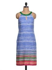 Stripes Printed Sleeveless Cotton Kurta - Shakumbhari