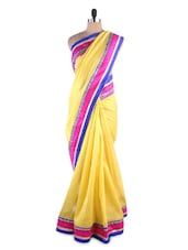 Sublime Lemon Yellow Jute Saree - Kashish Lifestyle