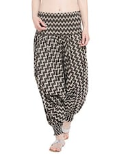 Cotton  Brown Colored  Harem Pants - By